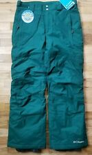 NWT COLUMBIA MEN'S SKI SNOWBOARD BUGABOO ll INSULATED PANTS SMALL S SHORT GREEN