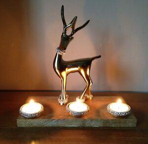 Reindeer Candelabra Candle Tea Light Holders For Sale Ebay