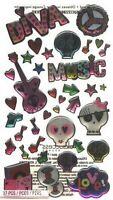 TEEN ROCK GIRL Dimensional - Sticko Stickopotamus Scrapbooking Craft Sticker