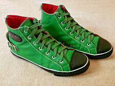 LEWIS LEATHERS AVIAKIT MENS LEATHER HIGH TOP SHOES GREEN SIZE EUR.43 U.S. 9  HTF