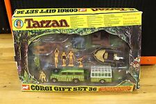 RARE CORGI TARZAN JUNGLE GIFT SET 36 1976 EDGAR RICE WITH BOX TOY