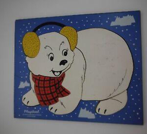 PlaysKool  Jigsaw wood Puzzle 275-26 Polar Bear 70's