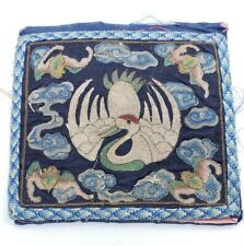 Antique Chinese Qing Dynasty  Crane 1st Rank ARM Badge? Embroidery
