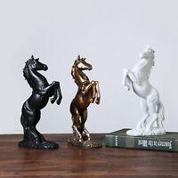 Figur Pferd, Harz Statue Im Galopp Pferd, Moderne Skulptur für Schreibtisch