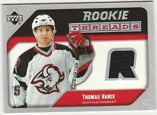 2005-06 Upper Deck Rookie Threads Thomas Vanek # RT-TV Jersey Hockey Card