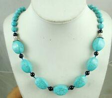 Natural SEDIMENT JASPER &Turquoise Handmade Gemstone Jewellery Necklace SA-1
