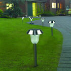 10x Outdoor Stainless Steel LED Solar Path Way Light Garden Lawn Landscape Lamp