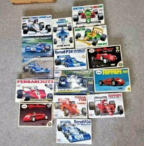 15 1/20 Formula 1 Model Kit Bundle Ferrari Tyrrell Benetton Tamiya Ebbro Revival