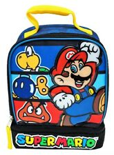 SUPER MARIO PVC &Lead Safe Dual Chamber Insulated Lunch Tote Bag Box w/Carabiner