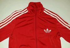 Adidas Red White Track Jacket Small Trefoil bboy bgirl Hip Hop Break Dance