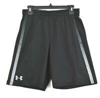 Under Armour Mens Black & Grey Athletic Shorts Elastic & Drawstring Waist Sz M