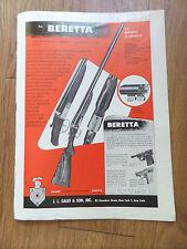 1954 Vintage Beretta Hunting Ad
