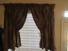 Primitive Style Curtains, Window Coverings, Aged, Distressed