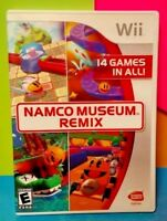 Namco Museum Remix 14 Games! - Nintendo Wii / Wii U Game Tested Complete Manual