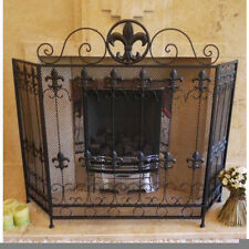 Antique Style Iron Fireplace Screens
