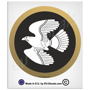 100mm-4'' Round Spartan Special Forces Shield the Falcon Laminated Decal Sticker