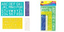 Stencil Set 5mm to 30mm Alphabet Letters Number Plastic Stencils Large Lettering