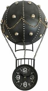 Creativo Retro Metal Diseño Vintage Globo Aerostático Pared Reloj Hogar Oficina