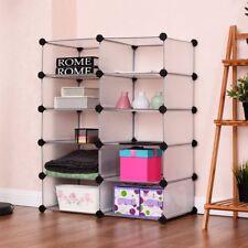 Storage Cube Organizer Closet 10 Grids Clothes Holder Modular Cabinet Bookcase
