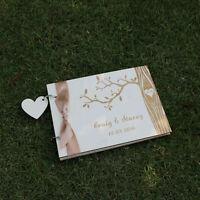 Wooden Personalized Engraved Names Tree Wedding guest book album,Valentine gift
