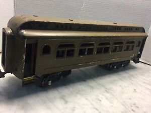 """Pre War Lionel O Gauge Observation cars New York Central Lines 17"""" Long USA"""