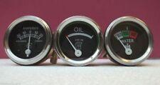 "IH / Farmall A,B, Super A, Super A1 Gauges-Temperature 24""+ Oil Screwin+ Ammeter"