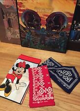Lot 3 Vintage Bandanna Tiger Fast Color All Cotton Red & Blue Handkerchief. Mint