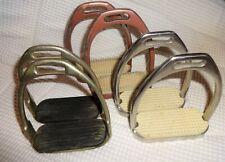 "3 Sets of English/Dressage Metal Childrens Stirrups- Sizes 4"", 4 1/2"" & 4"" -NICE"
