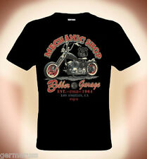 Biker T-Shirt: MECHANIC SHOP,  Route 66 (bis Größe 5XL möglich, Aufpreis 3 EUR)