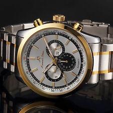 KS Luxury Men's Stainless Steel Automatic Mechanical Date Day Sport Wrist Watch