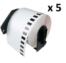5 X DK11202 62x100mm Compatible Etiquetas de dirección for Brother QL-570