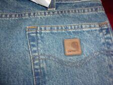 Mens NWT CARHARTT B460 LVB Relaxed Fit Straight Leg Jeans 30 x 32 (B55)