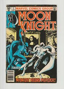 Moon Knight #3 (1981, Marvel) 1st appearance of Midnight Man! Disney+ VG-