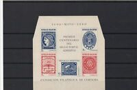 argentina 1940  mint never hinged stamps sheet cut corners  ref r12608