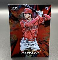 Shohei Ohtani RC 2018 Red Flame Topps Fire #150 Los Angeles Angels MLB
