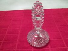 Clear Crystal Clear Decanter With Hobnail Design