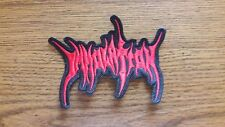 IMMOLATION,SEW ON RED EMBROIDERED PATCH