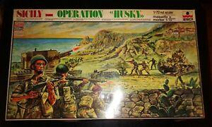 Rare? New WWII ESCI Operation Husky Sicily Invasion 1/72 Diorama Kit Sealed Bags