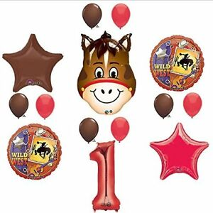 Wild West Cowboy Western 1st Birthday Party Supplies and Balloon Decorations