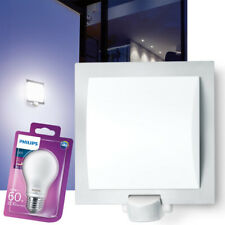 STEINEL L20 Außenwandleuchte Bewegungsmelder Aussenleuchte Außenlampe weiß + LED