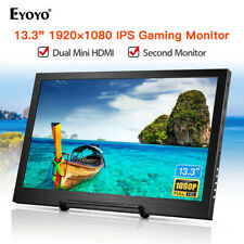 "Eyoyo 13.3"" 1920*1080P HDR IPS Monitor Dual Mini HDMI for PS3 PS4 Xbox 360 Wii"