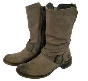 TIMBERLAND Whitmor Boot Womens 7.5 U.S Ortholite Distressed Brown Taupe