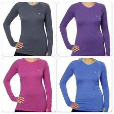 NEW WOMENS CHAMPION ACTIVE YOGA ATHLETIC LONG SLEEVE WITH THUMBHOLE TEE VARIETY