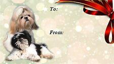 Shih Tzu Dog Self Adhesive Gift Labels (42) by Starprint