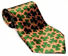 Good Luck St Patricks Day Necktie Irish Green Clover Shamrock 57in Men's Tie