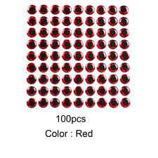 100pcs Fish Eye 7-12mm 3d Holographic Lure Fish Eyes Fly Tying Jigs Crafts Doll Red 12mm