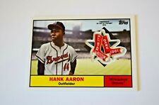 2018 Topps Commemorative HANK AARON 1961 All Star Game Patch Card