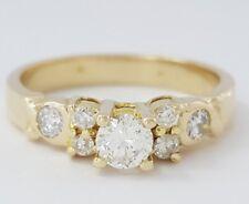0.45 ct 14K Yellow Gold Round Brilliant Cut Diamond Engagement Ring