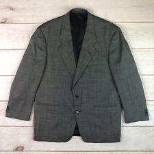 Christian Dior Men's 44R Black White Gray 100% Wool Blazer Jacket Vintage Coat