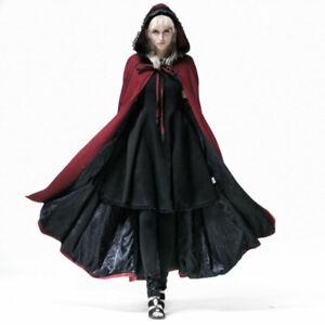 Lagerräumung Gothic Punk Rave Mantel rot Halloween Rotkäppchen Umhang Y-547
